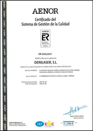 certificado gestión calidad aenor