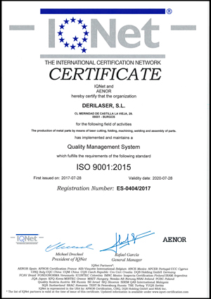certificado iso aenor
