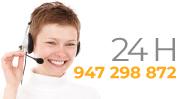 Servicio atención al cliente 24 horas. Teléfono 947 298 872